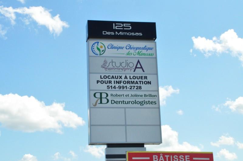 Affiche Clinique Chiropratique Des Mimosas